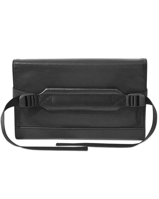 DKNY | Black Bryant Park Saffiano Leather Chain Clutch Bag | Lyst