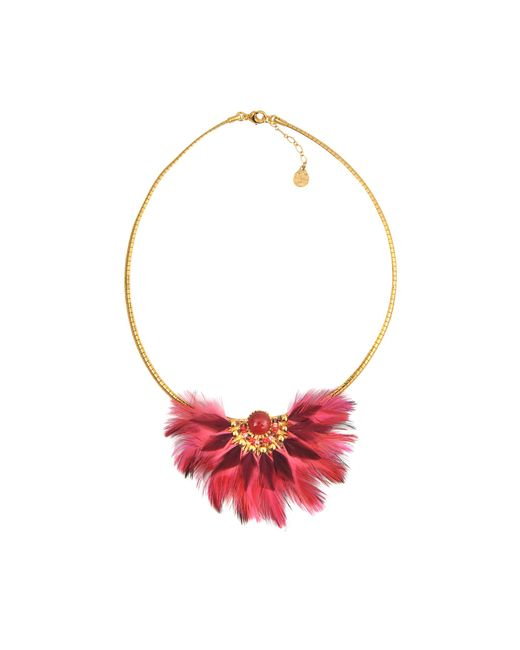 Gas Bijoux | Pink Gaia Feather Necklace | Lyst
