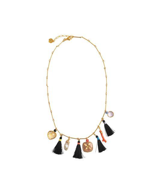 Gas Bijoux | Metallic Serti Bamboo Nude Necklace | Lyst