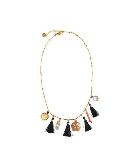 Gas Bijoux | Metallic Serti Bamboo Nude Necklace | Lyst