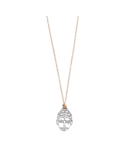 Ginette NY | Pink Mini Buddha Diamsdiamond Necklace | Lyst