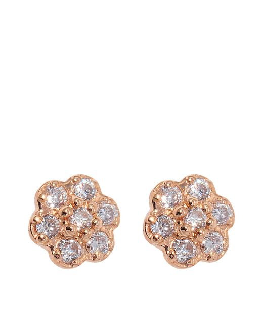 Ginette NY | Metallic Diamond Lotus Earrings | Lyst