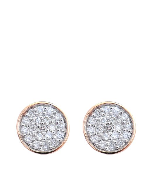 Ginette NY | Blue Round Sequin & Galaxy Diamond Earrings | Lyst