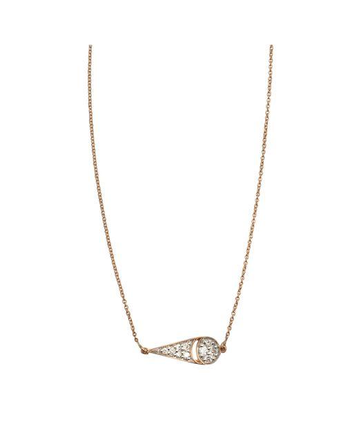 Ginette NY | Metallic Mrs Joe Tiny Diamond On Chain Necklace | Lyst