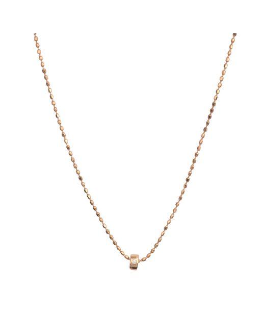Ginette NY | Metallic Mini Tube & Diam Necklace | Lyst