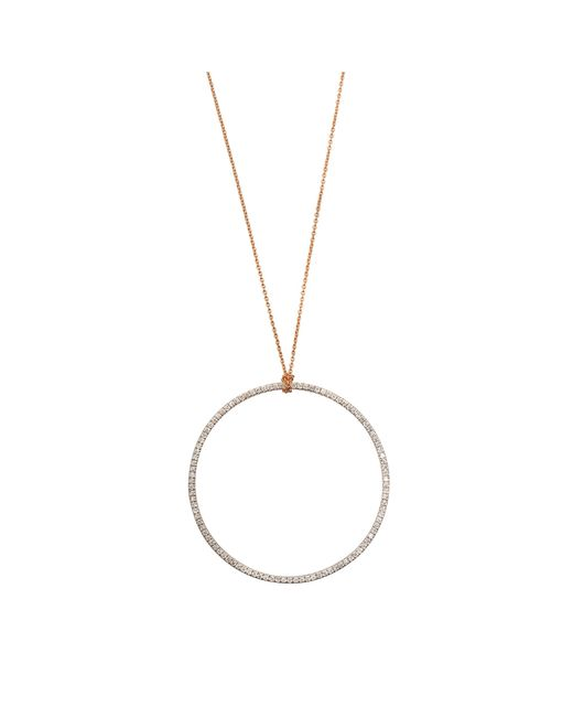 Ginette NY | Metallic Diamond Circle On Chain Necklace | Lyst