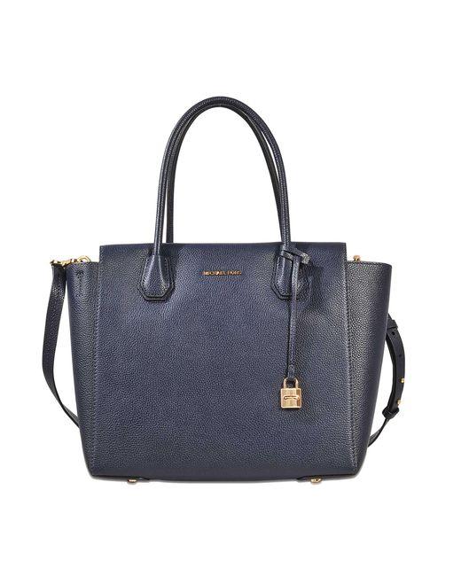 MICHAEL Michael Kors | Blue Mercer Large Satchel Bag | Lyst