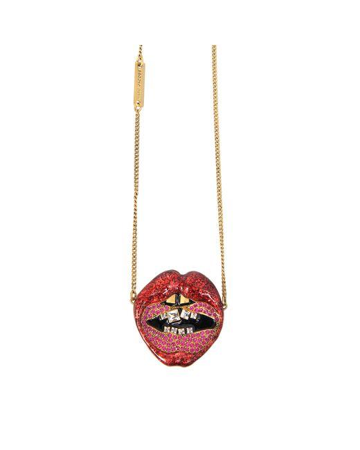 Marc Jacobs | Black Lips In Lips Pendant | Lyst