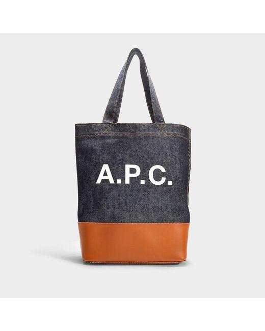 A.P.C. - Multicolor Logo Denim Tote Bag - Lyst