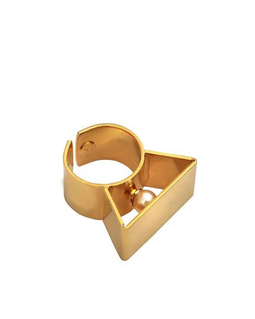 Helene Zubeldia - Metallic Glass Pearl Metal Adjustable Ring - Lyst