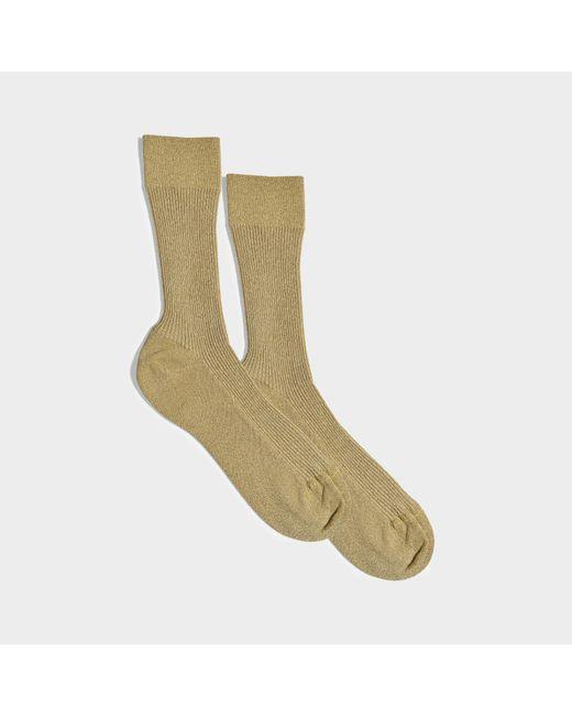 Maria La Rosa - Green Glitter Socks In Gold Nylon And Synthetic Fabric - Lyst