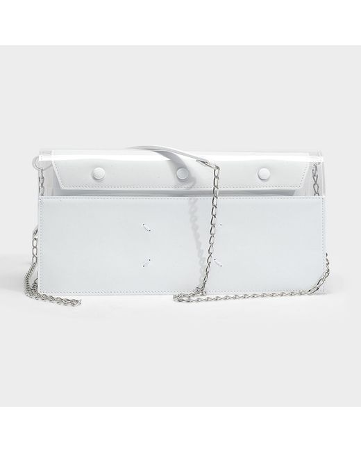 Leather and Plexiglas Clutch Bag in Transparent Calf and Plexi Maison Martin Margiela stdnG