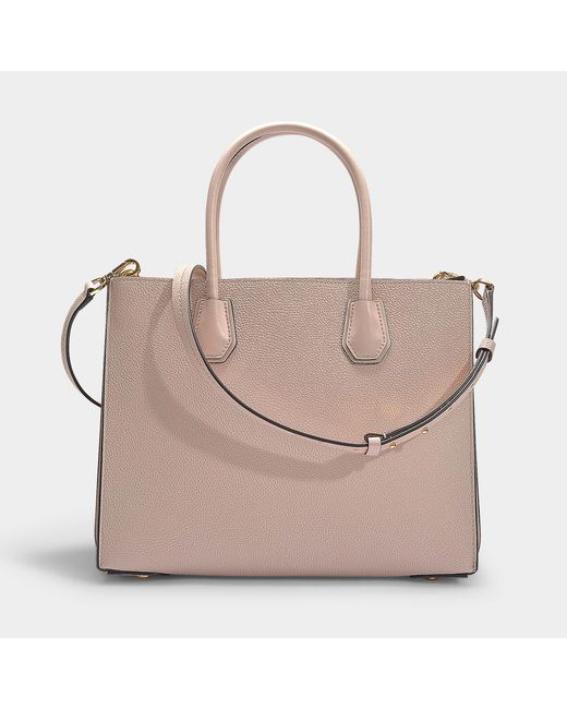 cacc21c8a162 ... MICHAEL Michael Kors - Mercer Large Accordion Convertible Tote Bag In Soft  Pink Grained Calfskin ...