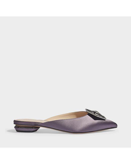 Nicholas Kirkwood - Multicolor Jewel Eden Mules In Purple Satin - Lyst