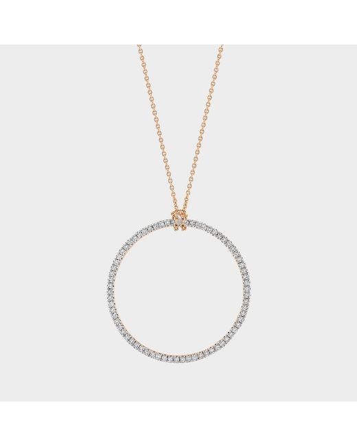 Ginette NY - Metallic Baby Diamond Circle On Chain - Lyst