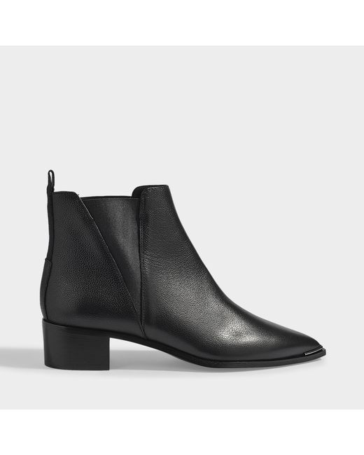 Acne Jensen Small Grained Boots In Black Leather