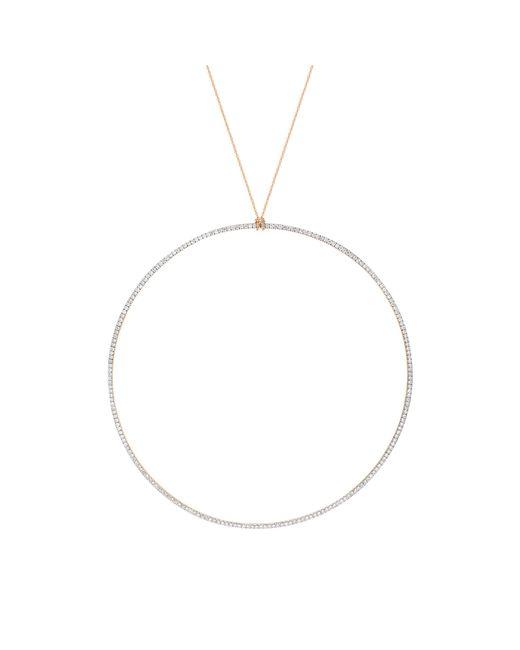 Ginette NY | Metallic Jumbo Diamond Circle On Chain Necklace | Lyst