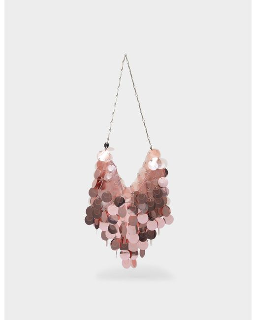 Paco Rabanne Pink Tasche Hobo Sparkle Aus Lilafarbenem Polyesther