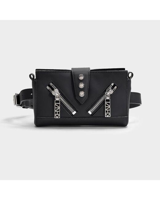 adcaf6bd63 Women's Kalifornia Bum Bag In Black Split Leather