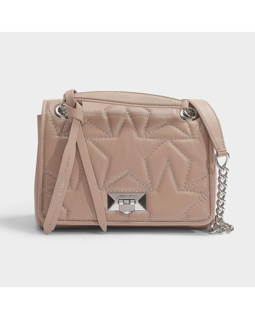 9bf08e9a413 Jimmy Choo - Helia Shoulder Bag S In Ballet Pink Star Matelasse Nappa  Leather - Lyst ...