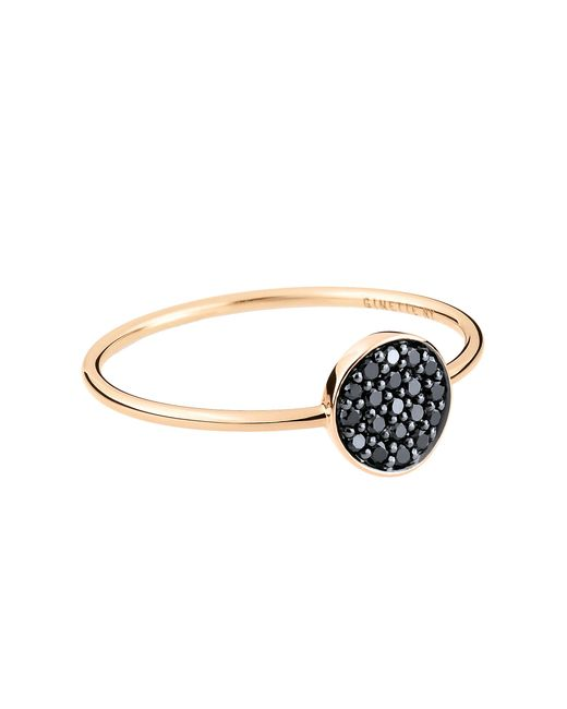 Ginette NY | Mini Black Diamond Ever Disc Ring | Lyst