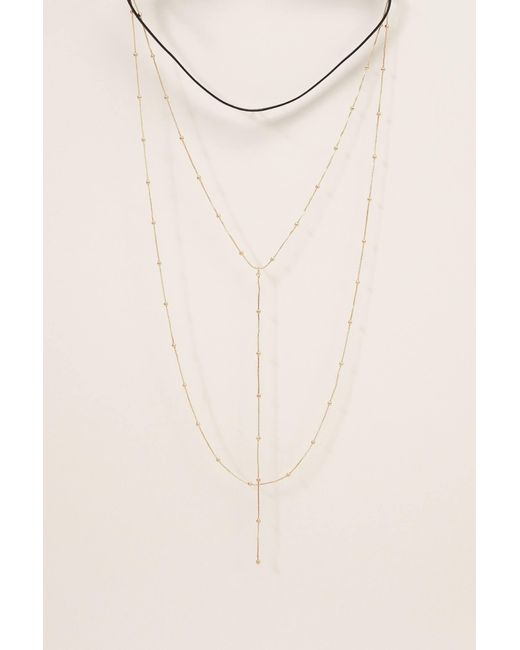 Pieces - Multicolor Necklace / Longcollar - Lyst
