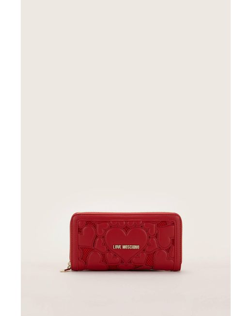 Love Moschino - Red Wallet And Coin Purse - Lyst