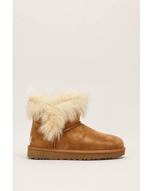 Ugg - Brown Bootee And Ankle Boot - Lyst