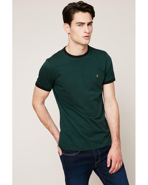 Farah | Green T-shirt for Men | Lyst