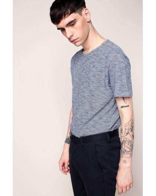 Knowledge Cotton Apparel | Blue T-shirt for Men | Lyst