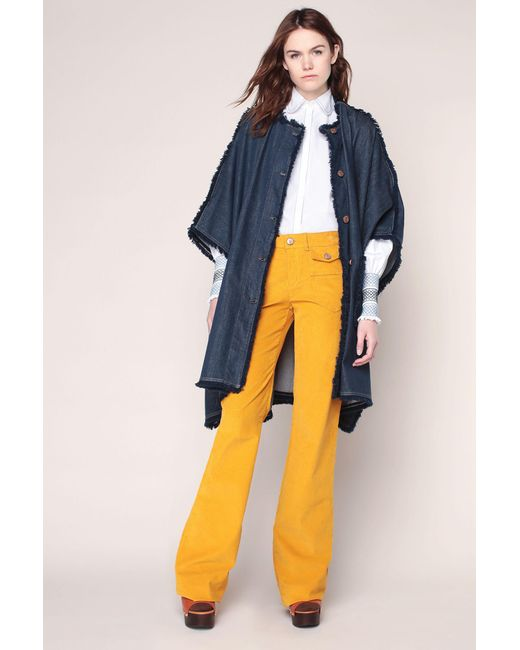 See By Chloé - Yellow Wide-legged Trousers - Lyst