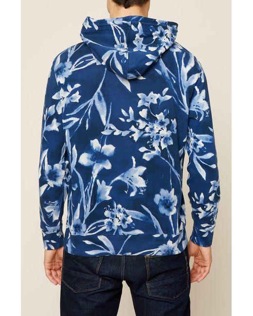 ... Polo Ralph Lauren - Blue Men\u0027s Floral-print Spa Terry Hoodie for Men ...