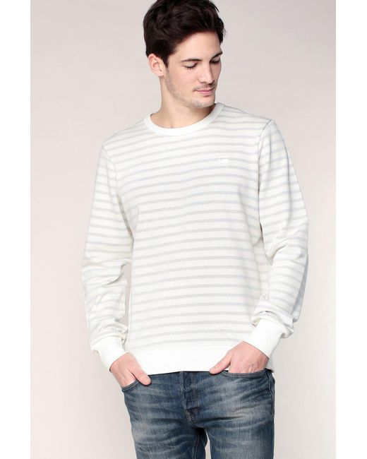 G-Star RAW - White Sweater & Cardigan for Men - Lyst