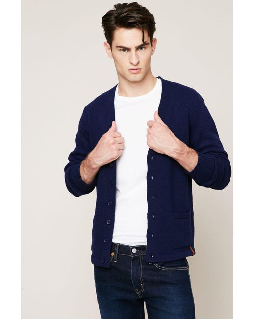 Knowledge Cotton Apparel | Blue Cardigan for Men | Lyst