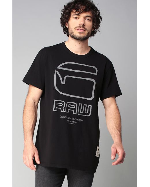 G-Star RAW - Black T-shirt for Men - Lyst