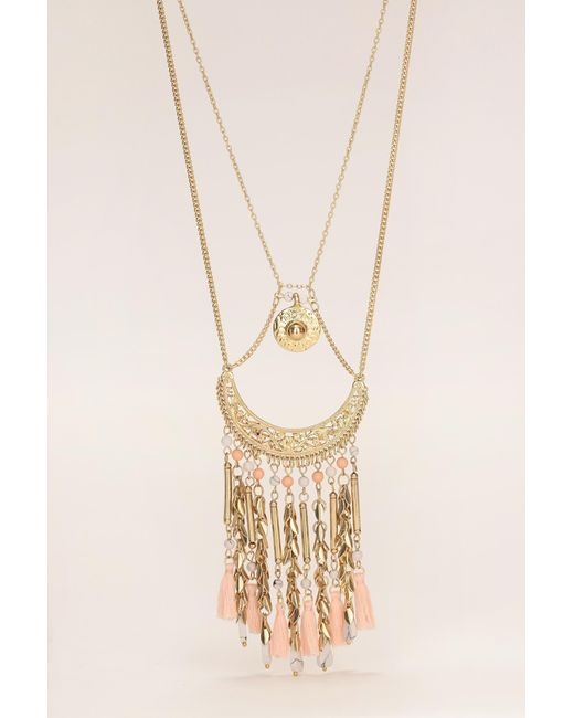 Pieces   Pink Necklace / Longcollar   Lyst