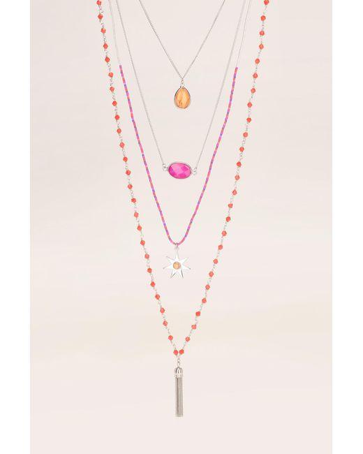 Hipanema - Pink Necklace / Longcollar - Lyst
