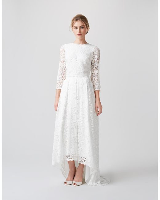 Monsoon Dominika Lace Bridal Top In White