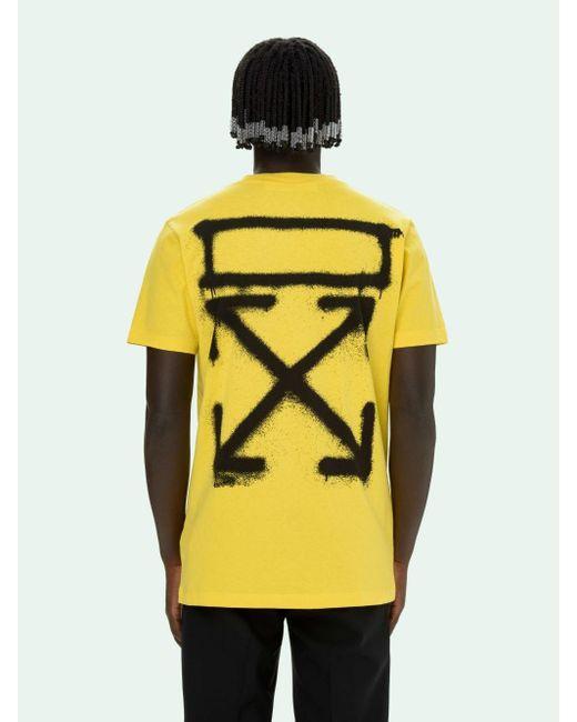 Off-White c/o Virgil Abloh Yellow T-shirt for men