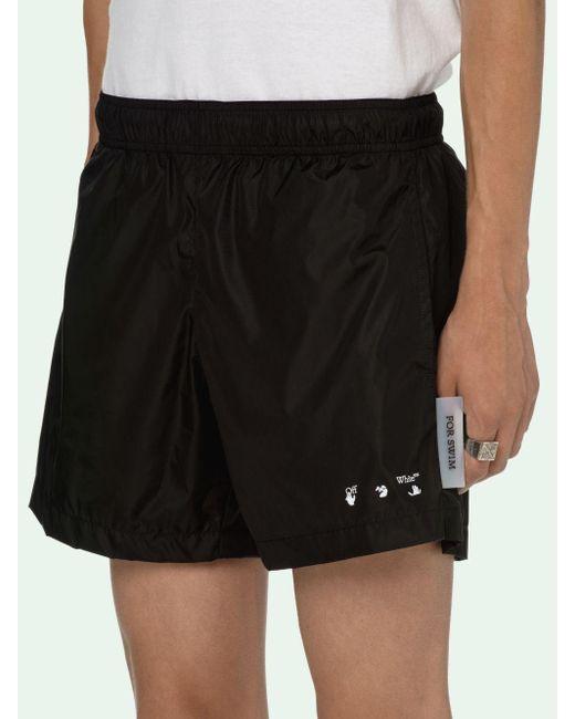 Off-White c/o Virgil Abloh Black Logo Swimwear for men