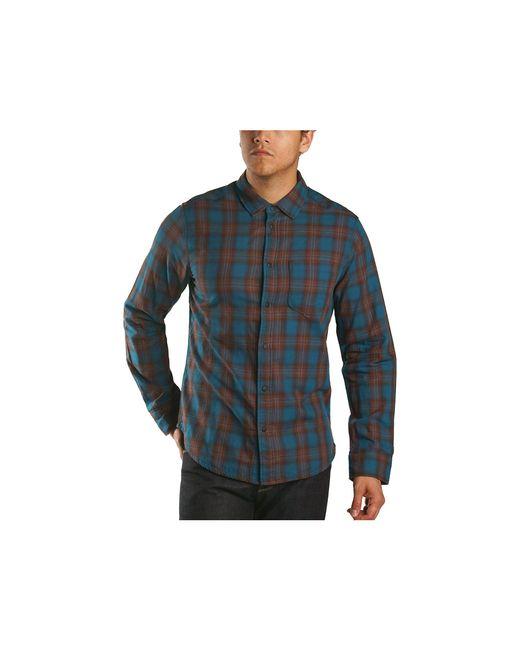 Jeremiah Blue Howler Reversible Plaid With Print Ls Shirt for men