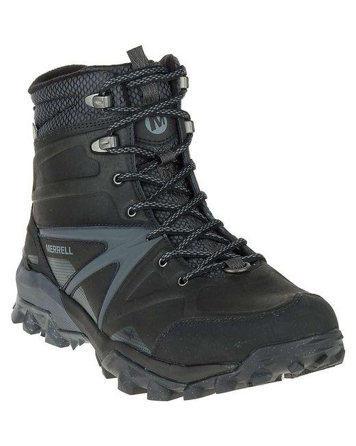 Merrell - Black Capra Glacial Ice+ Mid Waterproof Boot for Men - Lyst