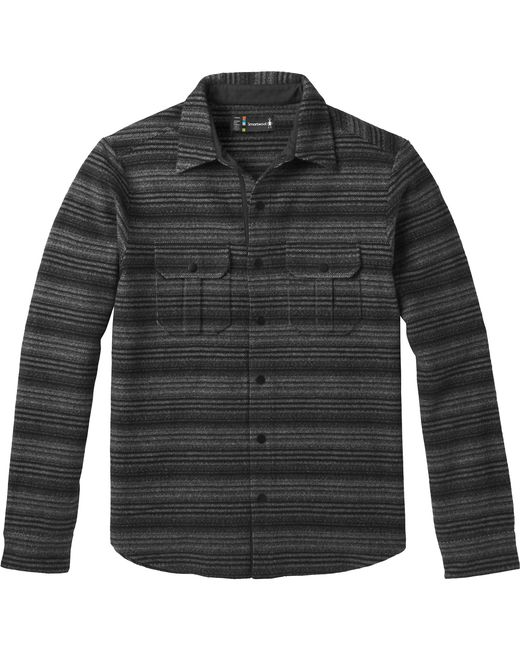 Smartwool Black Anchor Line Stripe Shirt Jacket for men