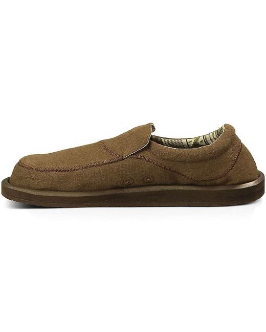 66902936c74e ... Sanuk - Brown Chiba Stitched Shoe for Men - Lyst