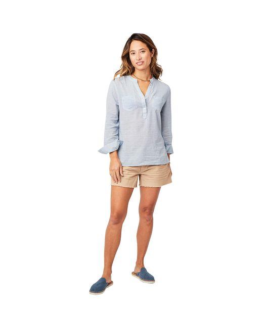Carve Designs Blue Dylan Gauze Shirt