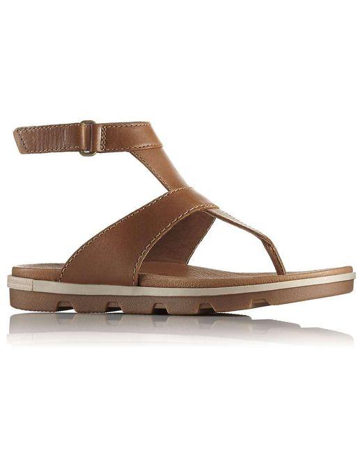 Sorel - Brown Torpeda Ankle Strap Sandal - Lyst