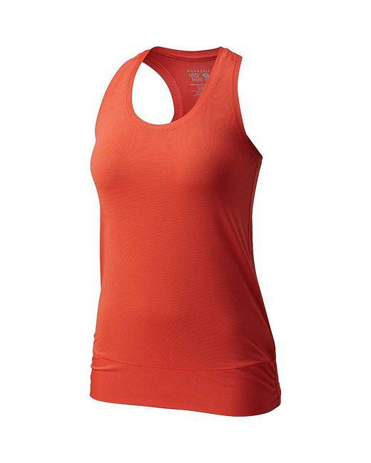 Mountain Hardwear - Red Wicked Lite Tank Top - Lyst