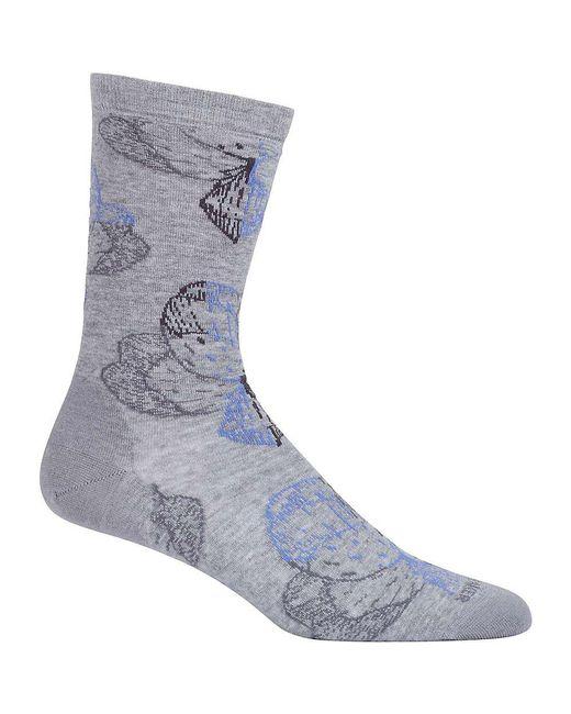 Icebreaker | Blue Lifestyle Fine Gauge Ultra Light Crew Sock | Lyst