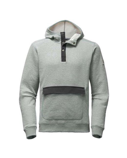 The North Face - Gray Re-source Pullover Hoodie for Men - Lyst