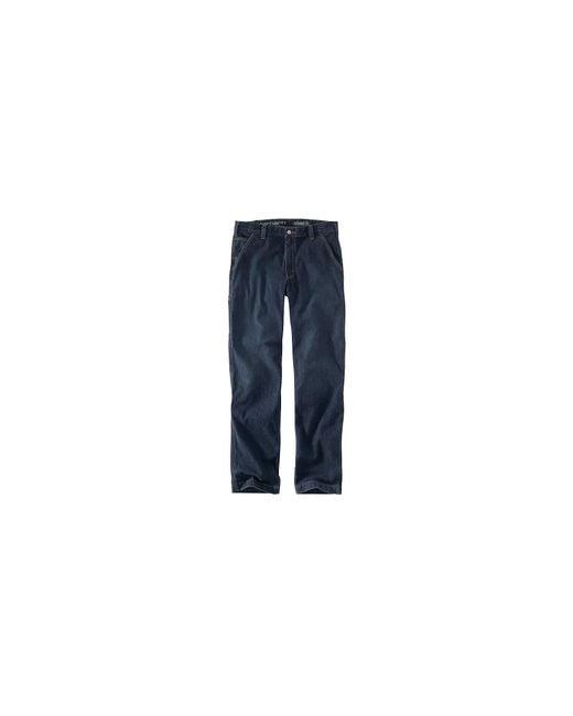 Carhartt Blue Rugged Flex Relaxed Dungaree Jean for men